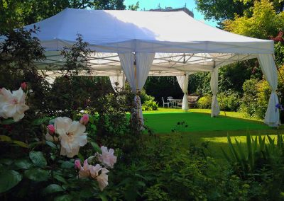 8x8 marquee with grass